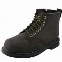 China Safety Boots with 2.0 to 2.2mm PU Coated Cowhide Upper wholesale