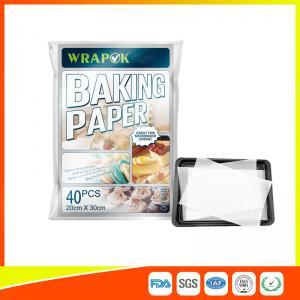 Waterproof Baking Paper Sheets / Non Toxic Parchment Paper Heat Resistant 20 * 30cm