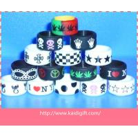 China Customed Flexible Silicone Rubber finger Ring with alphabet wholesale