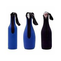 China Hot-sellin Camouflage Neoprene Wine bottle holder beer bottle sleeve with handle strap wholesale