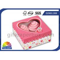 China Custom Printing Folding Cup Cake / Dessert Paper Box with Display Window wholesale