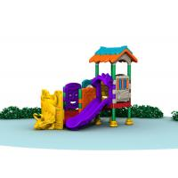 China Little Kids Outside Playset / Kids Plastic Play Structure With Slide  TQ-QS004 wholesale