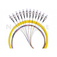 Buy cheap FC UPC 12 Core Fanout Fiber Optic Pigtail Single Mode Simplex For Data Transmission from wholesalers