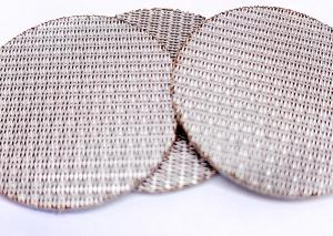 China 3um Hole 1.7mm Thickness Sintered Mesh Filter Stainless Steel 304 wholesale
