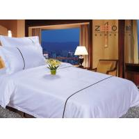 China Double Size Hotel Bed Linen / Hotel Style Bedding Sets For 4 Star wholesale