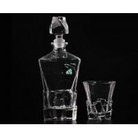 China Decal Recycled Wine Bottle Glasses , Wine Glass Storage Containers wholesale