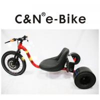 China Electric Pedal Assist Three Wheel Drift Bike , 60km/h Speed Big Wheel Motorized Drift Trike wholesale