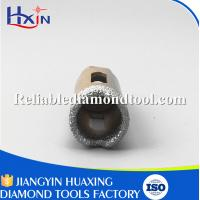 China Overall length for 60mm for Stone/Ceramic/Glass Golden Brazed Diamond Core Drill Bit wholesale