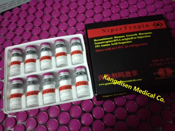 Quality Real Human Growth Hormone For Bodybuilding Somatropin HGH Nipertropin for sale