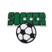 China Customized Soccer Iron On Embroidered Patches Colorful For Bags / Caps wholesale