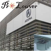 China fixed vertical exterior aluminum sun louver wholesale