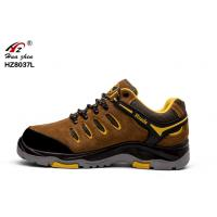China Outsole Suede Soft Safety Shoes , BK Mesh Wide Fitting Mens Safety Shoes wholesale