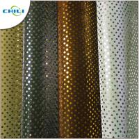 China Multi Color Glitter Fabric Sheets , Silver Glitter Fabric Fashionable For Shoes Lining wholesale