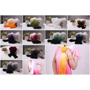 China Rabbit Fur Scarves Rabbit Fur Scarf Rabbit Fur Shawl With Fur Flowers 11 Colors wholesale