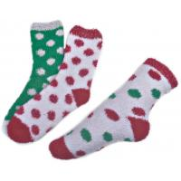 China Polka dot pattern ,Aloe Infused SPA Socks polyester plush therapy spa sock wholesale
