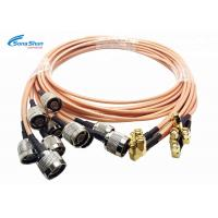 China LAN System RF Microwave Cables , SMA Male Right Angle Plug RF Connection Cable wholesale