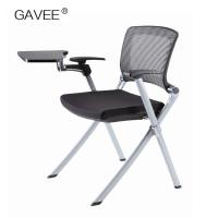 China PP Plastic Folding Garden Chairs , Folding Picnic Chairs With Writing Pad on sale