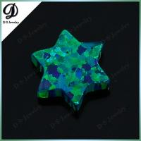 China Synthetic Opal Green David Star For Necklace wholesale