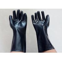 China Abrasion Resistant Heavy Duty Gauntlet Gloves , Insulated PVC Gloves Open Cuff on sale