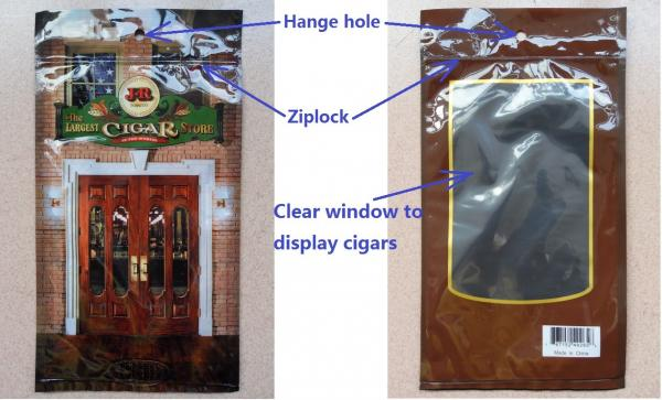 Quality Keep Cigars Fresh PE Cigar Humidor Bags With Classic Humidifed System for sale