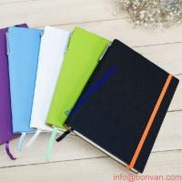 China custom cheap leather notebook with elastic closure, low price notebook,china factory on sale