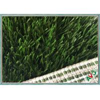 Fine Raw Materials PE Football Artificial Turf With Woven Backing 60 mm Pile Height