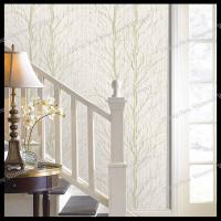 China non-woven house decoration wallpaper tree wall decal for living room bedroom wholesale