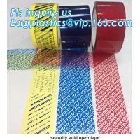 China Supply tamper proof plastic open void tape for seal courier bag envelopes with CE&ISO Air Mouse TV Box PCs OS bagplastic on sale
