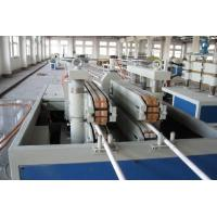 China PVC UPVC Double Pipe Plastic Extrusion Line / Machinery With Twin Screw wholesale