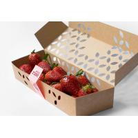 China Colorful Printing Fruit Packing Boxes For Fresh Banana / Apple Free Sample wholesale