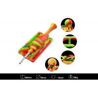 Buy cheap Food-grade silicone,Silicone Nectar Collector WAX kits with Titanium nail and Wax container,multiple colors from wholesalers