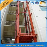 China CE 5.5m Vertical Hydraulic Elevator Lift with Guide Rail Checkered steel plate Platform on sale