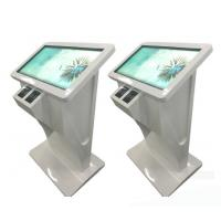 China 43 Inch Pc Windows 7 10 Or Android Os Network Wifi Floor Standing Touch Screen Kiosk Terminal With Card Reader wholesale