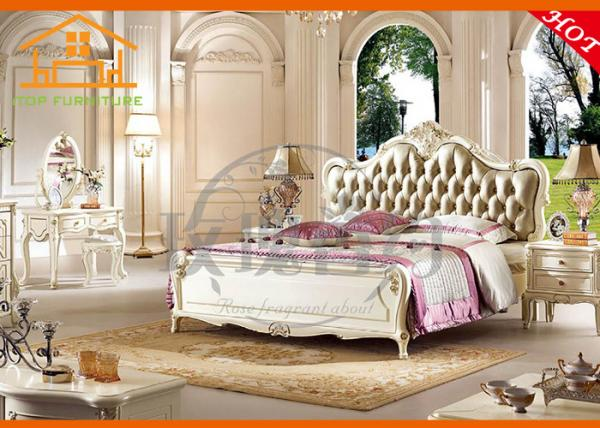 Quality exotic oversized  expensive solid wood french antique white jordans classic bedroom furniture set for adults karachi for sale