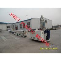 China Single Screw HDPE Pipe Extrusion Line , Plastic Extruding Machine on sale
