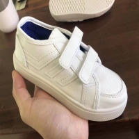 China Stockpapa Girls White Velcro Trainers Kids Casual Dress Shoes Size 25 To 30 on sale