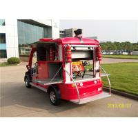 China Custom Red 2 Seater Electric Fire Truck / 48V Battery Powered Fire Engine on sale