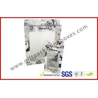 Rectangle Fashion Coated Paper Packaging Box with Hanger, Spot UV Foldable Card Board Packaging