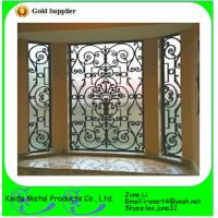 China wrought iron metal bar iron windows grills design wholesale
