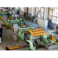 China Automatic Steel Slitting Line , Steel Sheet Slitting Machine Hot Rolled Easy Operation on sale