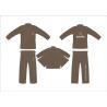 China Brown Brazilian Hemp Jiu Jitsu Gi Kimonos Martial Arts Uniforms wholesale