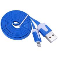 China Dual Color Noodle USB Cable Sync Flat Data Charger Cable for iPhone 2G3G4G4S iPad blue wholesale