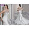 China Standard Size Romantic Mermaid Princess Bride Wedding Dress For Girls Custom Made wholesale