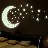 China Kids Room Decal Glow In The Dark Sticker Reusable Wall Sticker wholesale