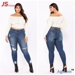 Customized Size Colored Denim Jeans Womens Plain Dyed Technics