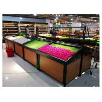 Buy cheap 1 layer  Metal Wooden Display Rack For Grocery Shop , 2 Years Warranty from wholesalers