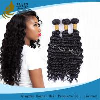 Natural Black Virgin Hair Extensions Kinky Curly , Malaysian Curly Hair Weave No for sale