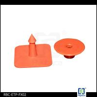 Red Colour TPU Material RFID Livestock Tags Ear Tags For Diary Farm Pigs
