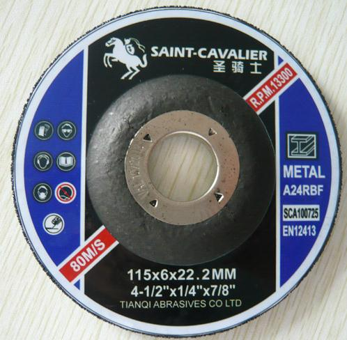 Quality Grinding Disc for Metal 115x6x22 T27 A for sale