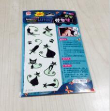 China glow in dark tattoo sticker body wholesale